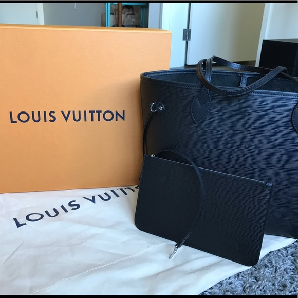 c4b41c036 Louis Vuitton Bags | Sold Lv Neverfull Mm In Black Epi Leather ...
